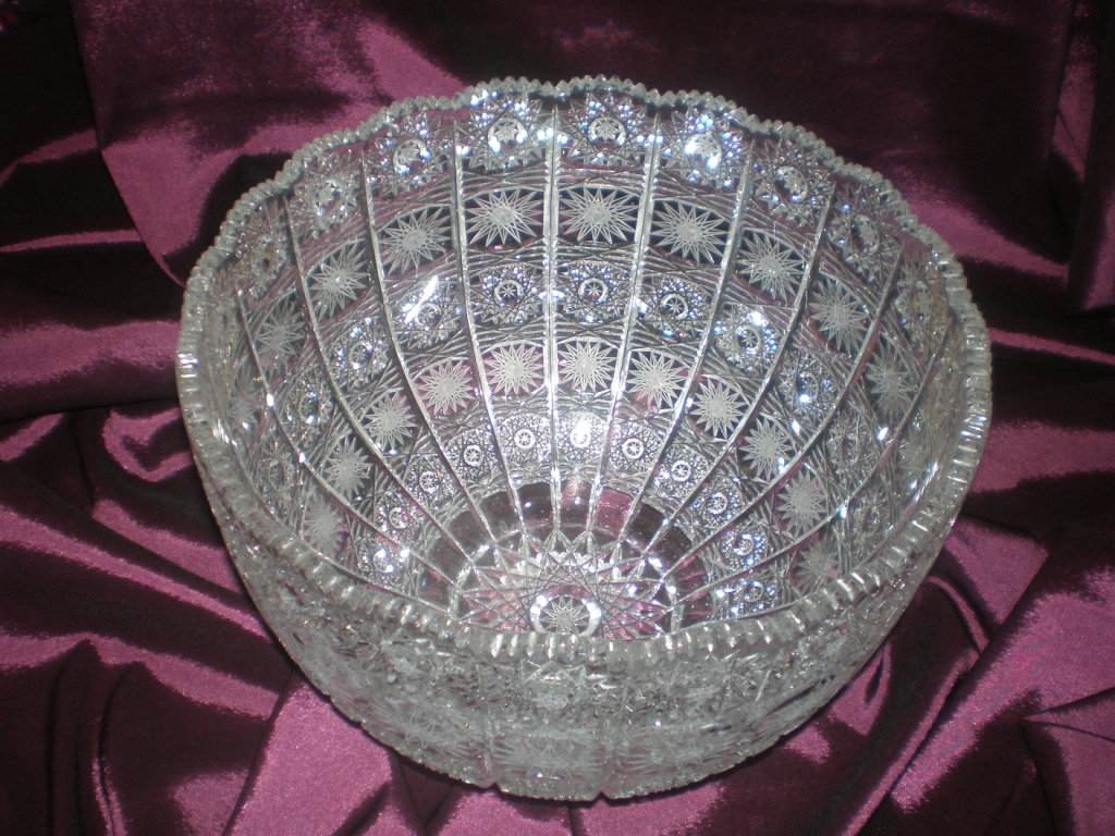 Bohemian Hand Cut Crystal Bowl Vase Plate By Bscompany