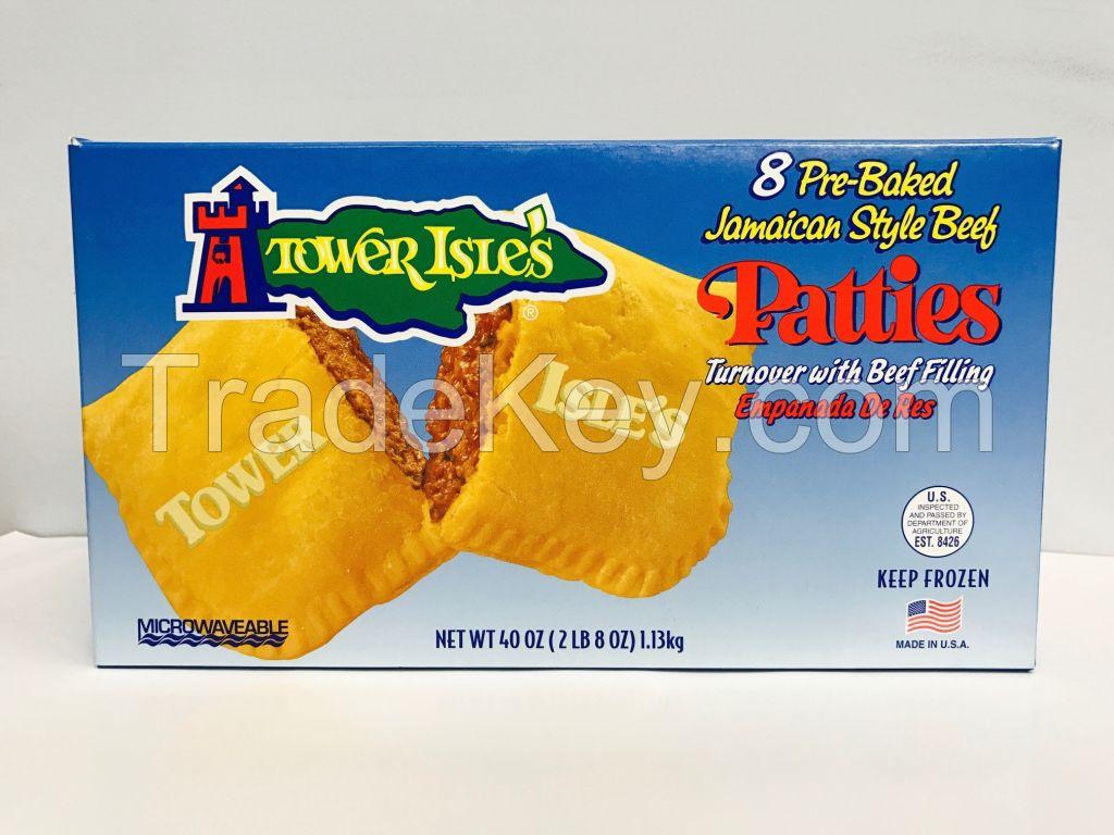 club pack of 8 jamaican style mild beef pattiestower