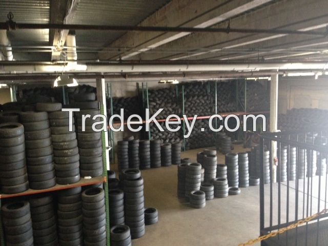 Container of Good grade Used Tires 15 and 16 inch 4.00