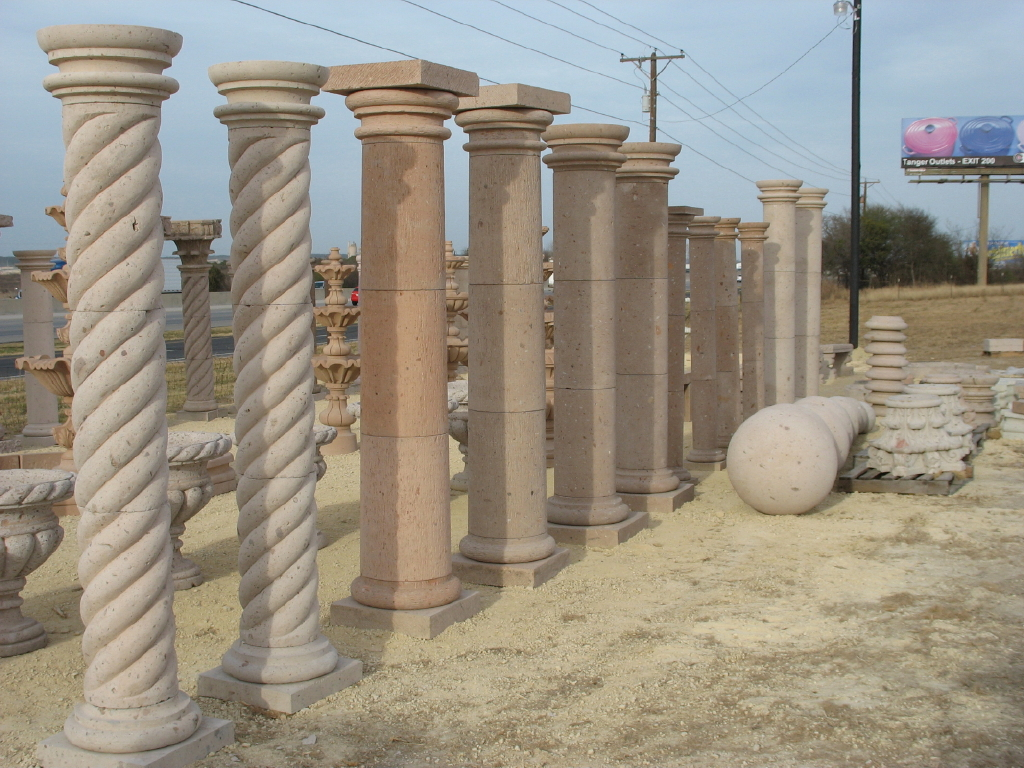 Cantera stone columns by cantera stone design usa for Cantera pillars