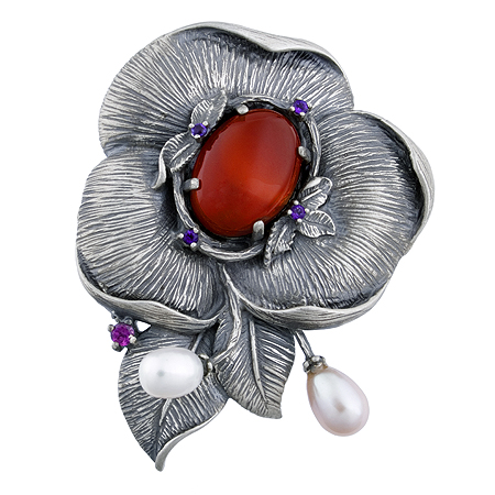 925 silver antique brooch