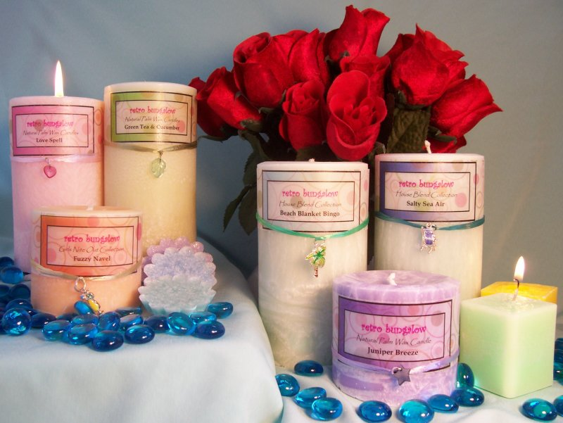 Natural Palm Wax Candles