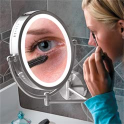 Magnifying Wall Mirror led lighted wall mounted magnifying shaving mirrorshaoxing