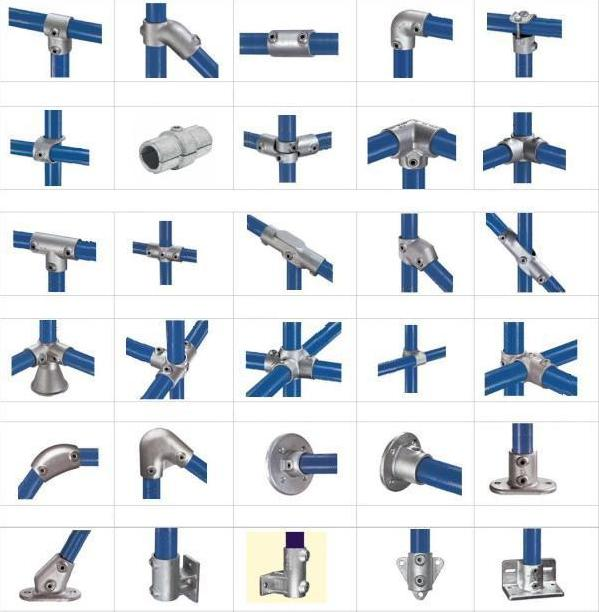 Speed rail structural slip on fittings key clamps by