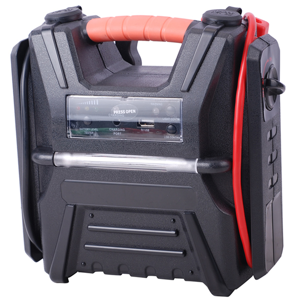 Jump starter with car air compressor