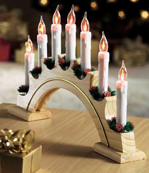 flickering candle archchristmas lights - Candle Christmas Lights