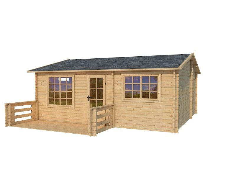 45mm wall thickness log cabins, log sheds, garden houses