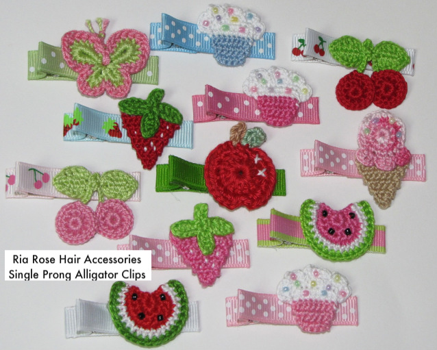 Crochet Hair Accessories by Ria Rose Crafts By Ria Rose Crafts, USA