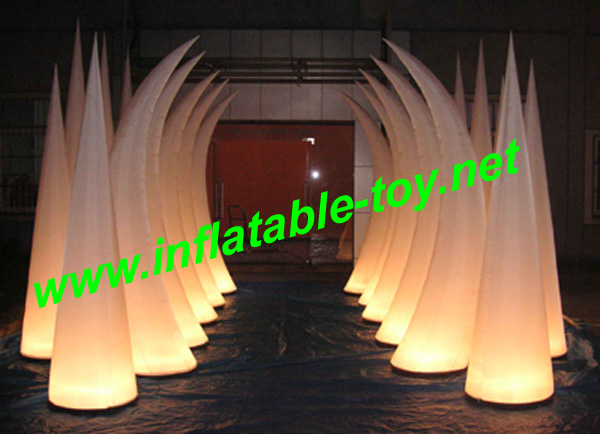 inflatable cone, light inflatable tube, decoration inflatable tube
