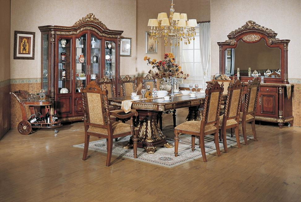 middle east style classic dining room furniture, dining table