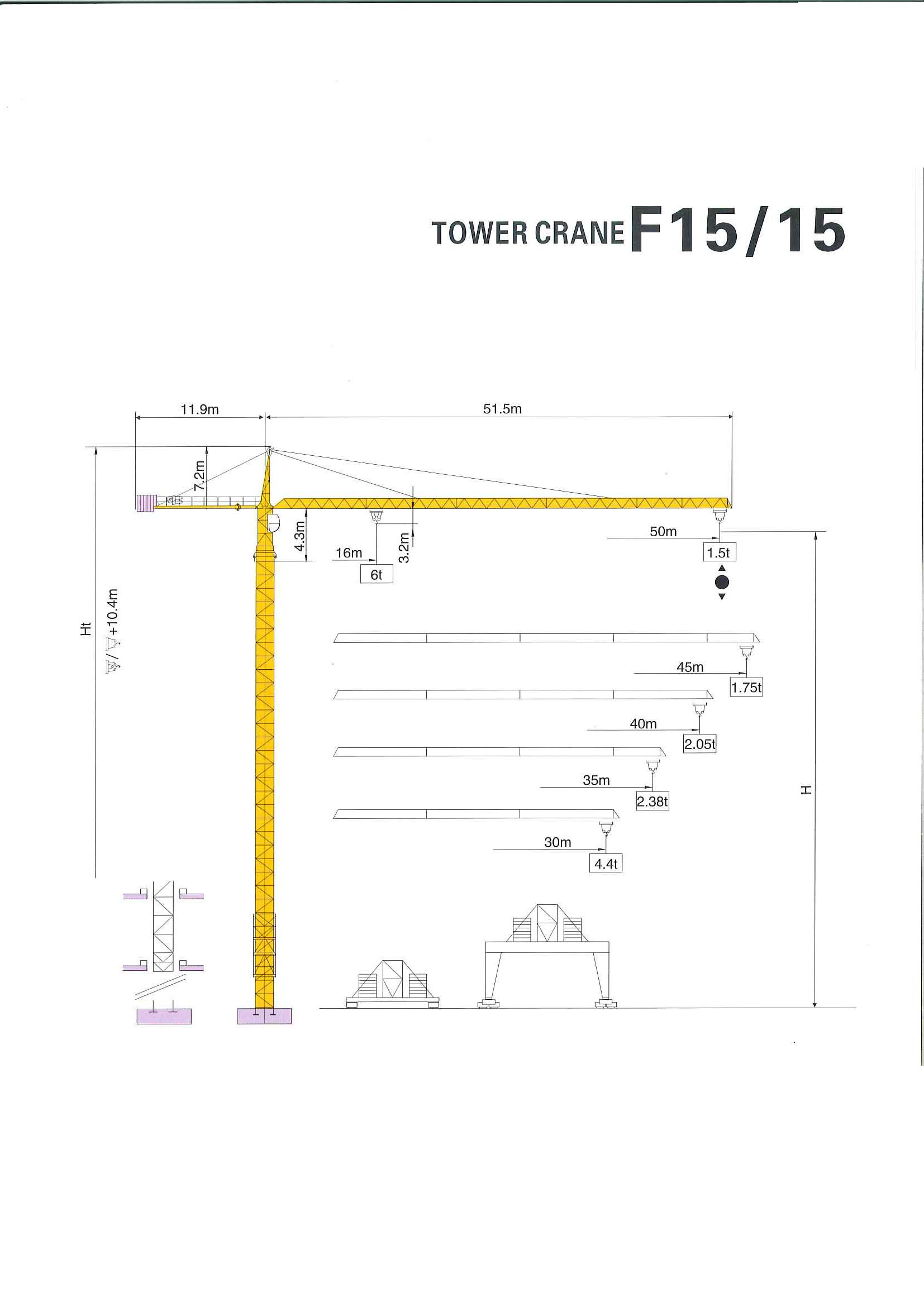 Tower Crane Sizes : Tower crane dimensions images