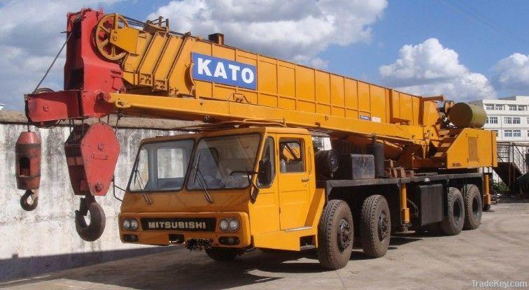 Mobile Crane 50 Ton Dimension : Used kato t crane nk e iii truck ton
