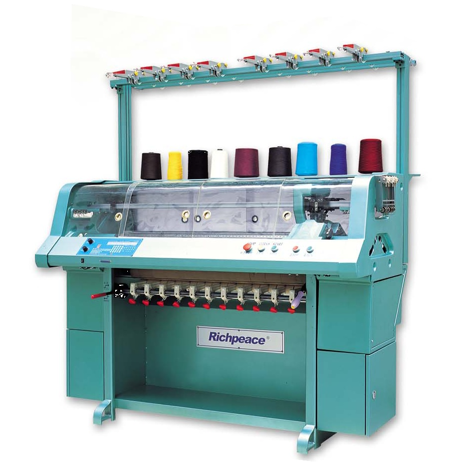 Knitting Machines : Automatic flat knitting machine for collar bottom by