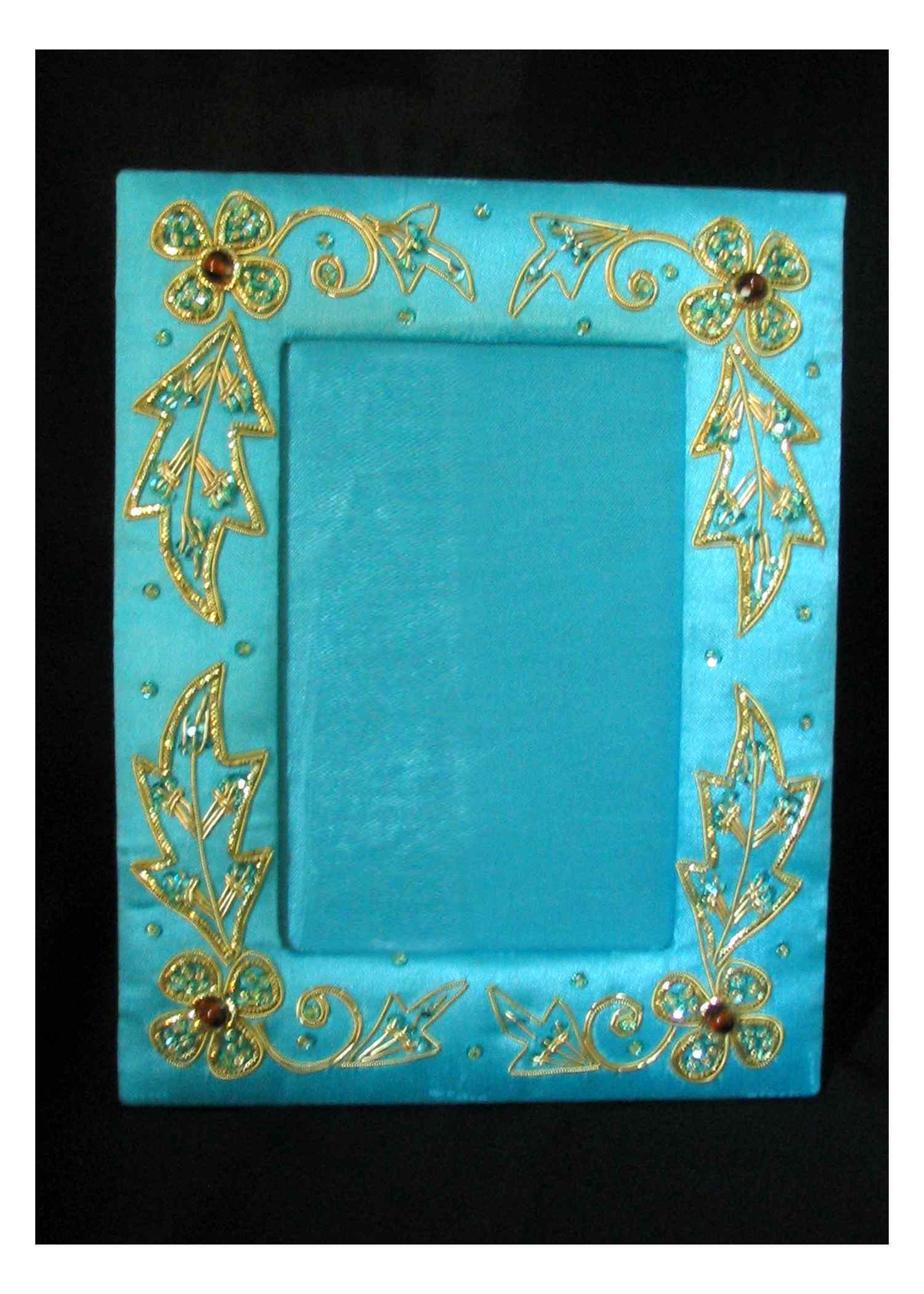 Hand Embroided (Zari) Photo frames
