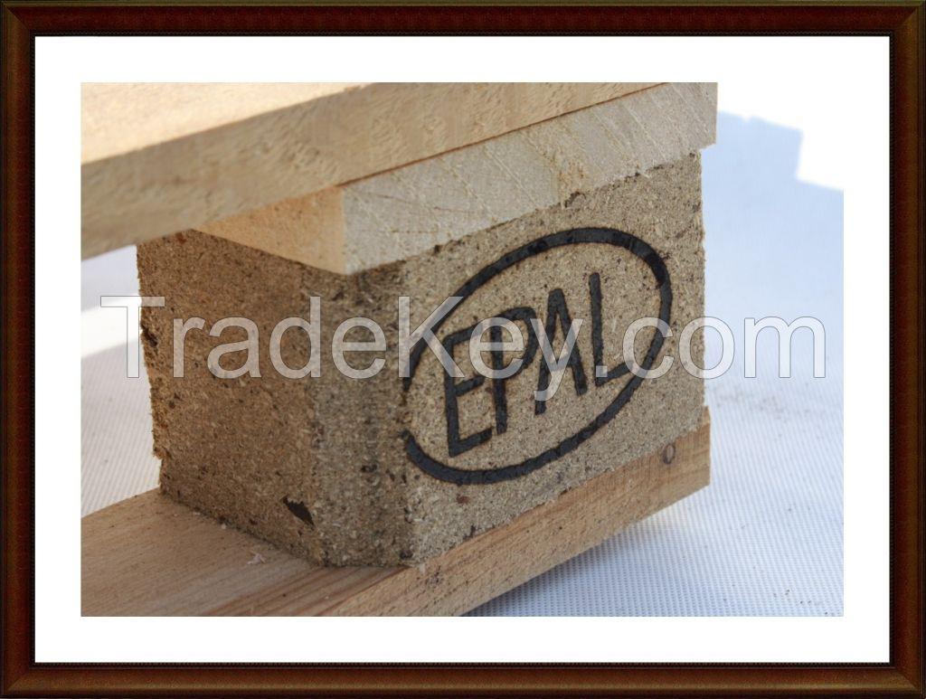 4 way wood Euro Pallet ICCP wooden NEW European EPAL Pallets