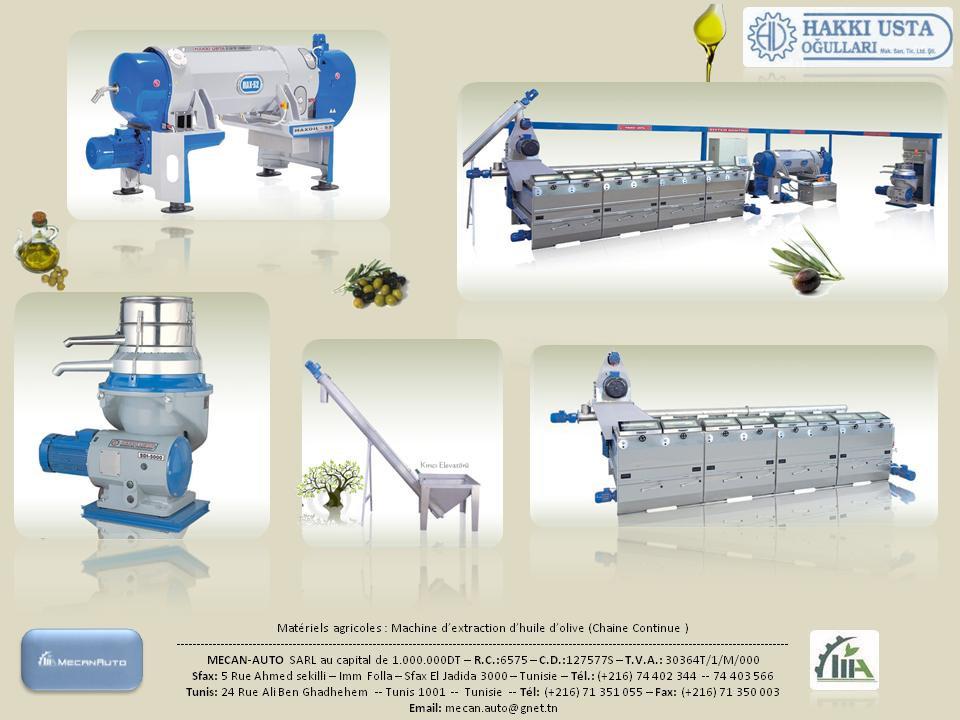 olive extraction machine
