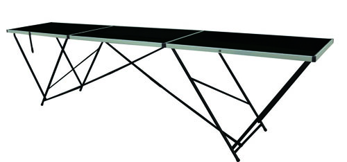 Table tapisser alu 3m table de lit for Table exterieur 3m