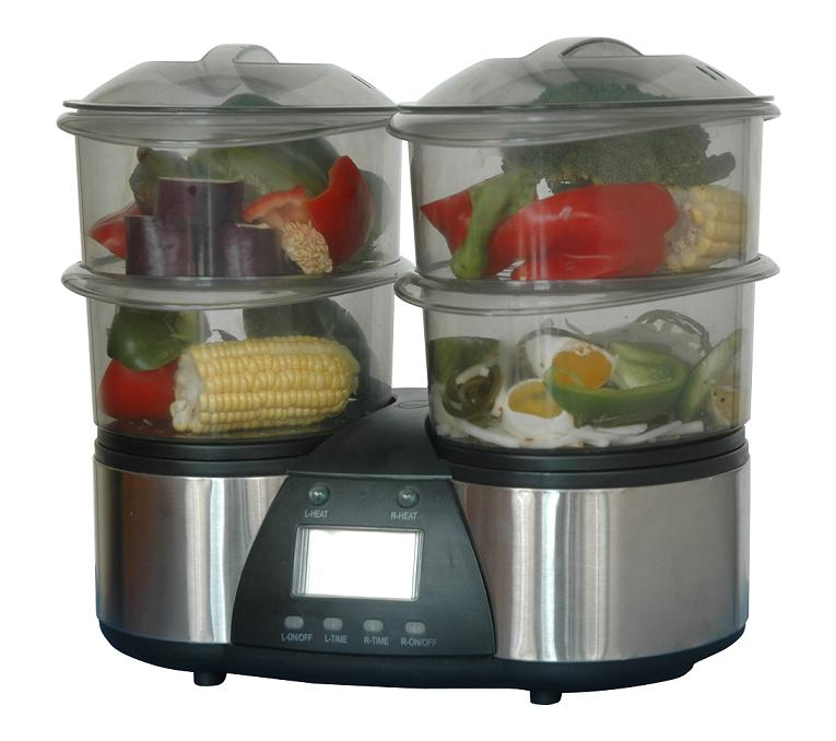 twin electric food steamer