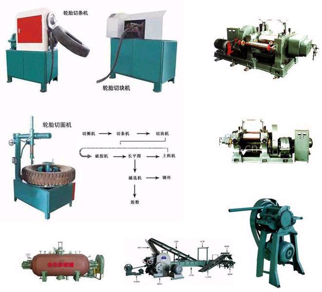 Rubber tire recycling machinery for Tractor tire recycling