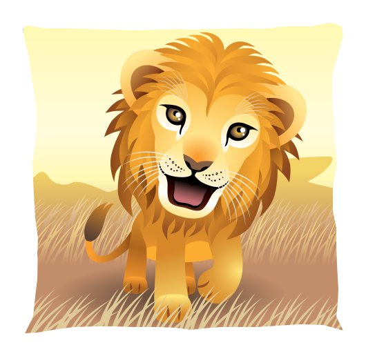 Kids Lion Pillows By Fun Rooms For Kids USA