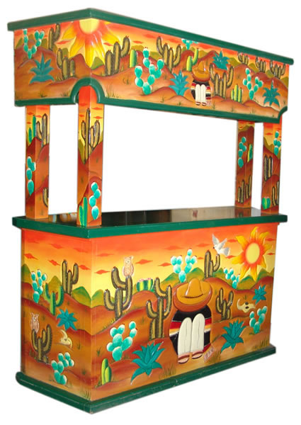 mexican carved furniture rustic image