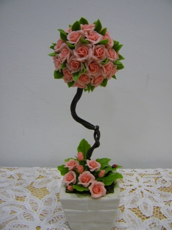 Clay flower from Thailand