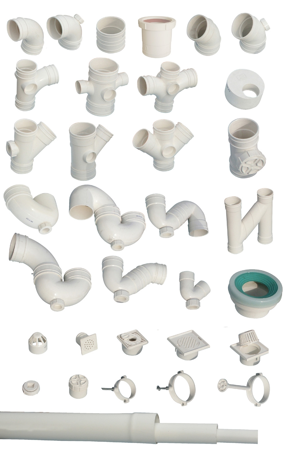 Pvc u pipe and fittings for drainage by shanghai tomson