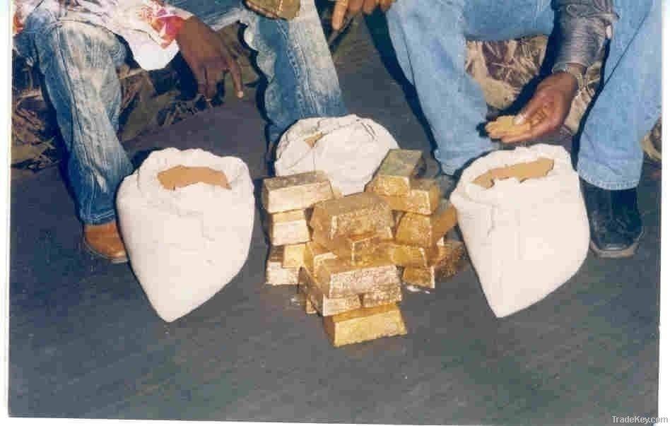 Alluvial Gold Dust, Gold powder, Raw Gold Dore Bar
