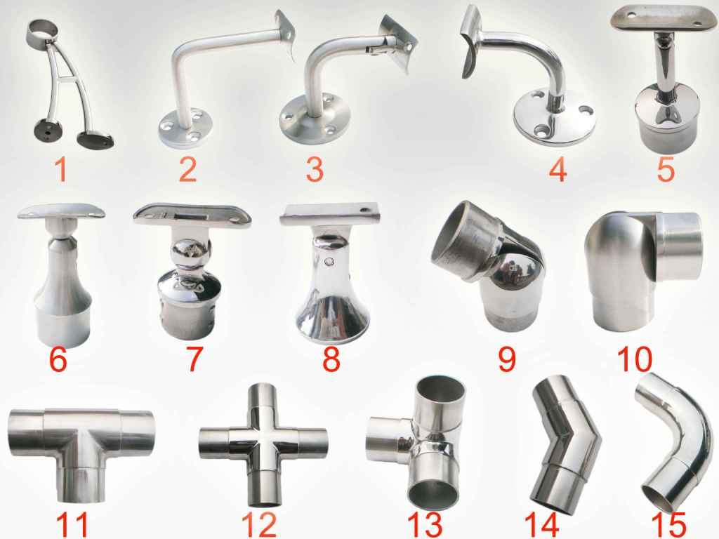 Stainless steel handrail fittings photo and picture on