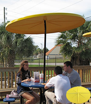 WINDPROOF 6u0027 ROUND STARBURST FIBERGLASS TOP PATIO UMBRELLA