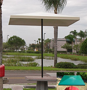 WINDPROOF 6u0027 SQUARE BISTRO FIBERGLASS TOP PATIO UMBRELLA