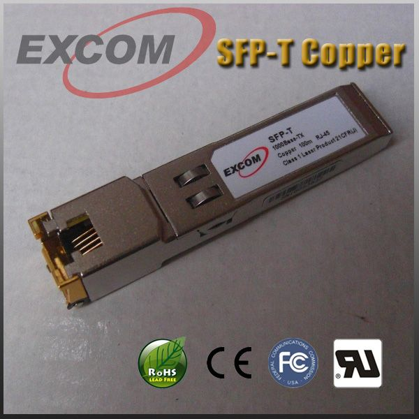 Sell GLC-T SFP copper transceiver module 10/100/1000BASE-TX RJ45 Port 100m