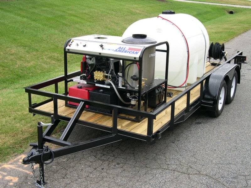 Pressure Washing Equipment : Trailer mounted pressure pump by hydrotest pumps systems