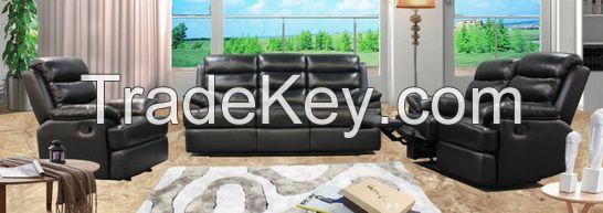 genuine leather reclining sofa set