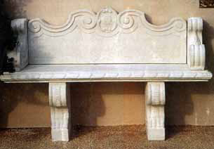 Sculptured Sofa from Syrian stone