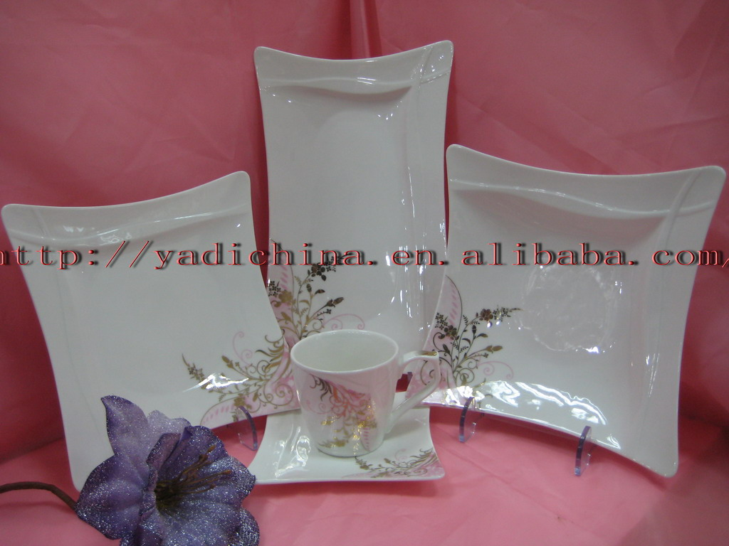 high porcelain dinnerware