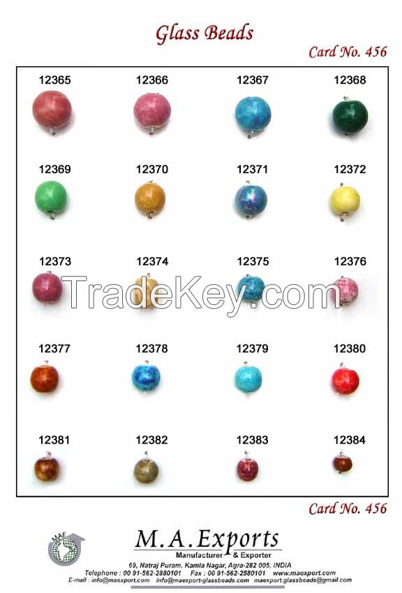 Ceramic glass bead