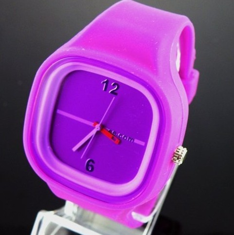 2011 hot selling ***** silicone/rubber Jelly watch