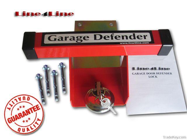Garage door defender lock