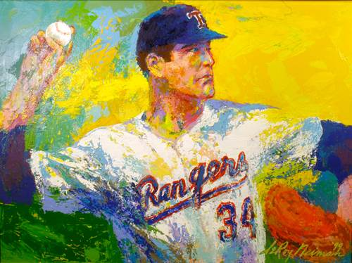 LeRoy Neiman Painting Nolan Ryan