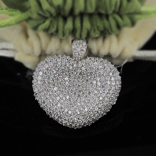 2011 wholesale 925 silver CZ pendants jewelry