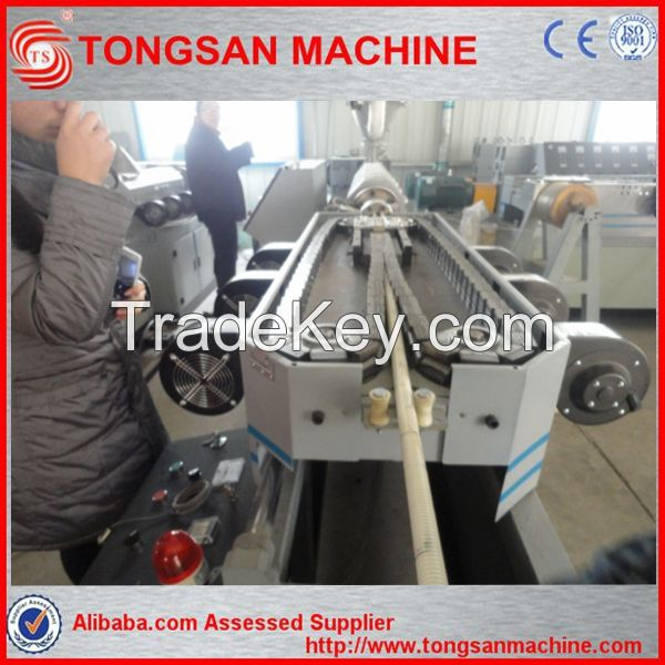 pvc single wall corrugated pipe machinery