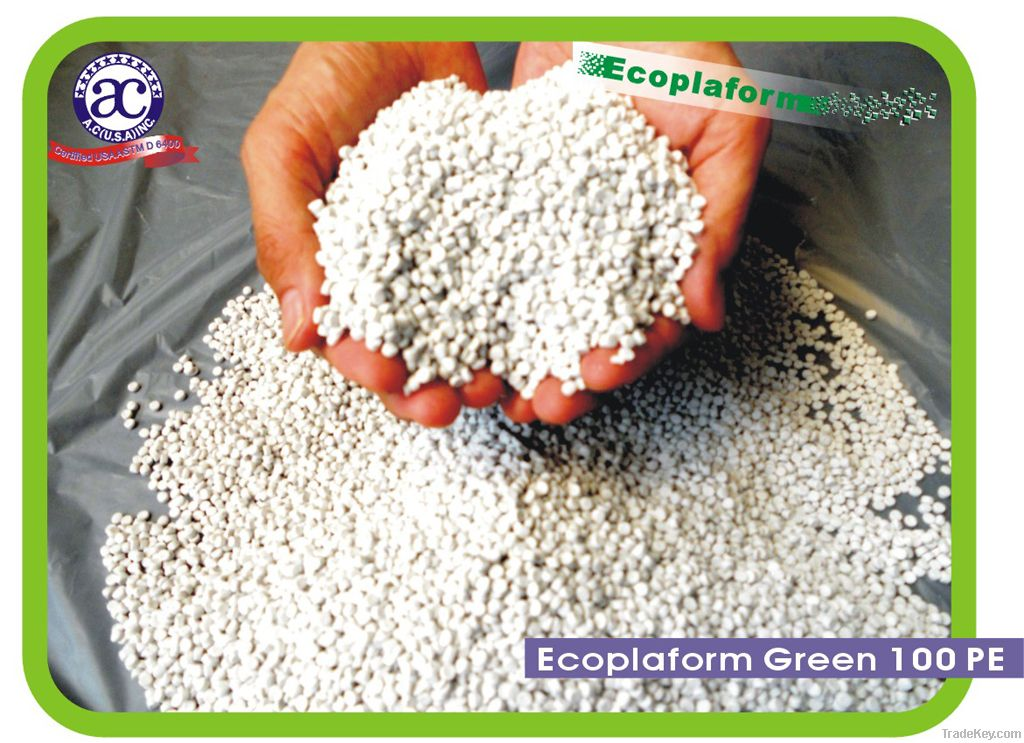 PE Ecoplaform Green Plastic Pellets