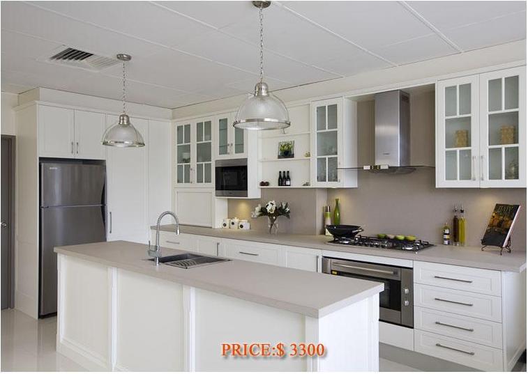 Kitchen Cabinet White Lacquer Melamine