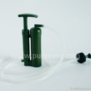 Survival portable water filter for outdoor