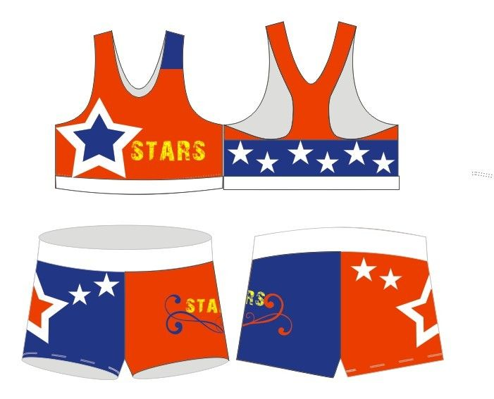 2013 new custom design cheerleading uniform , training set
