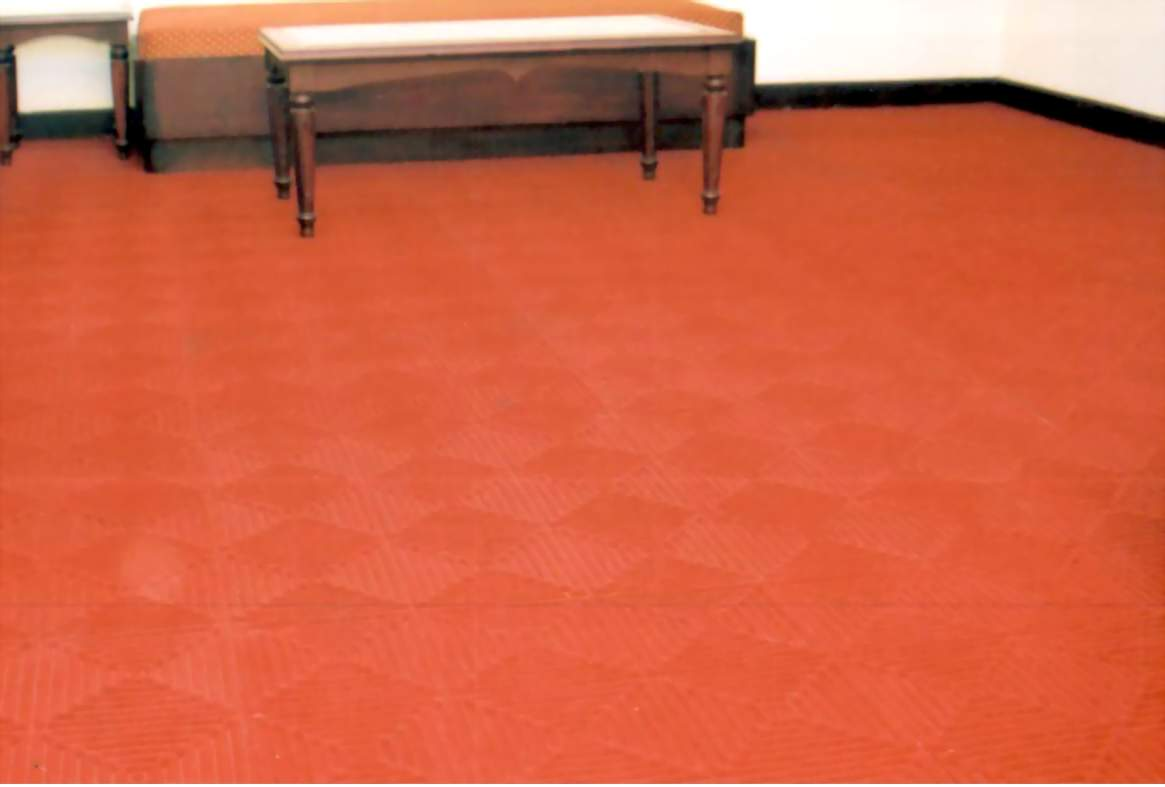 Polypropylene floor tiles