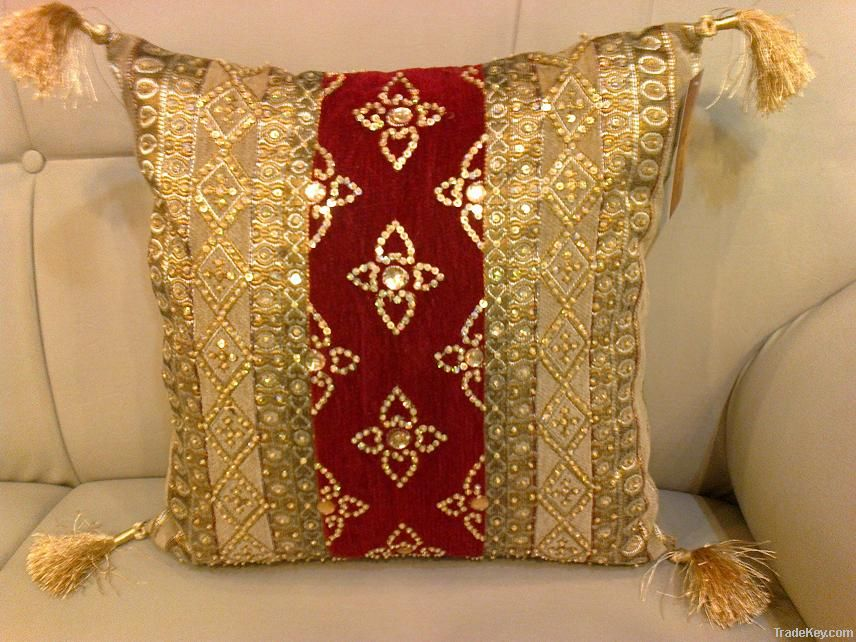 Buy pakistani cushion cover handmade embroidered sequence for Sofa hecho de cojines