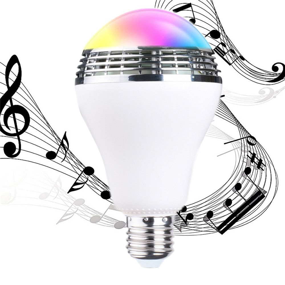 Smart bluetooth speaker led bulb music playing RGB E27  light lamp with remote control