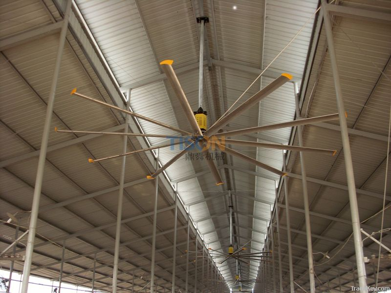 HVLS industrial ceiling fans By HANGZHOU DINGSHUN MACHANICAL CO., LTD, China